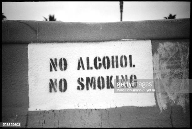 No Alcohol No Smoking Sign On Wall