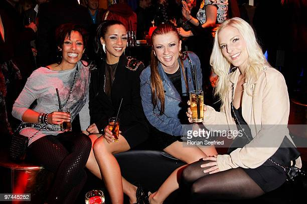 No Angels Jessica Wahls Nadja Benaissa Lucy Diakovska adn Sandy Moelling attend the aftershowparty of the Echo Award 2010 at Messe Berlin on March 4...