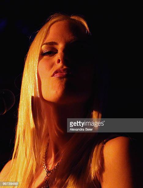 No Angels singer Sandy performs during a concert at the Atomic Cafe on May 17 2010 in Munich Germany