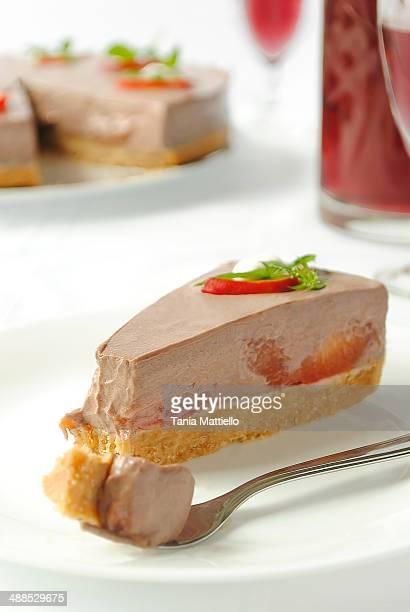 No Bake Red Plum, Red Wine and Chocolate Cake