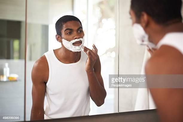 No beards for him!
