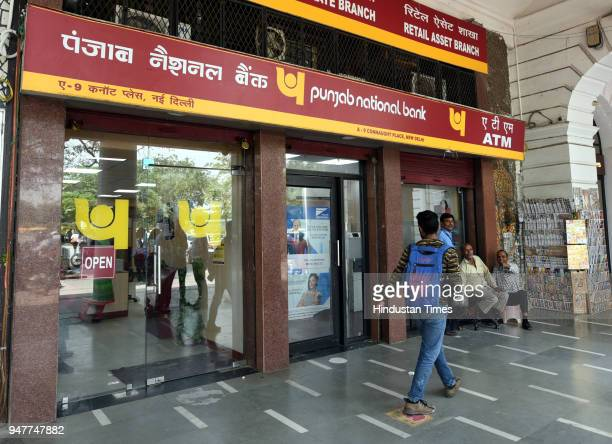 No Cash in Punjab National Bank ATM at Connaught Place on April 17 2018 in New Delhi India Reports of a cash crunch in several states including Delhi...
