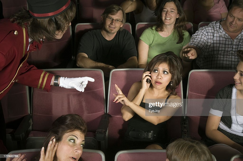 No Cell Phones in Movie Theater : Stock Photo