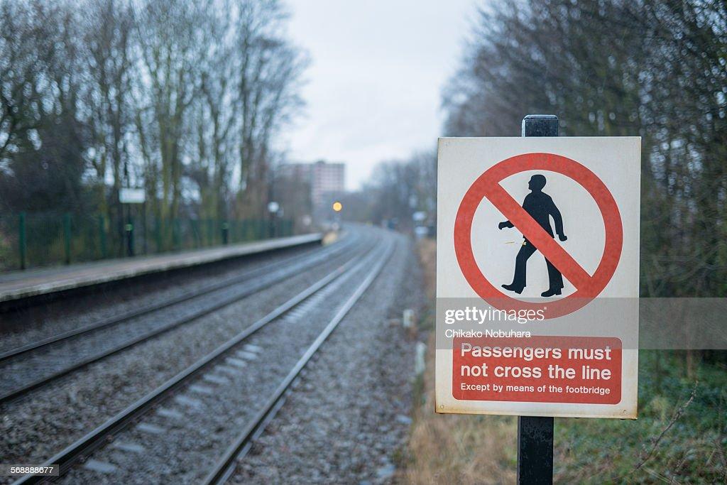 No crossing : Stock Photo