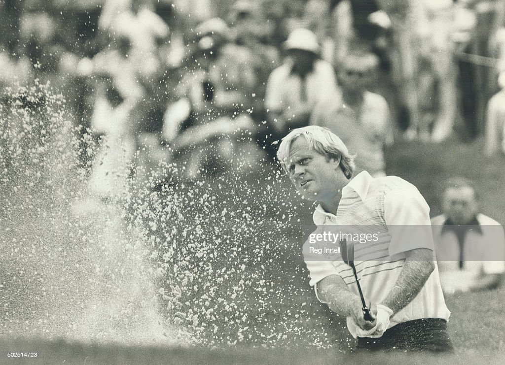 No design on title: Jack Nicklaus spent too much time in bunkers at Glen Abbey course he designed fo : News Photo