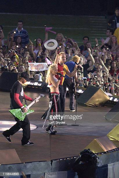 No Doubt and Sting during Super Bowl XXXVII Halftime Post Show on 1/26/03 at Qualcomm Stadium in San Diego CA United States