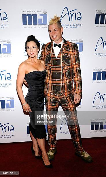 No Doubt drummer Adrian Young and wife Nina Kent arrive at the 11th annual Michael Jordan Celebrity Invitational gala at the Aria Resort Casino at...