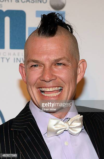 No Doubt drummer Adrian Young arrives at the 13th annual Michael Jordan Celebrity Invitational gala at the ARIA Resort Casino at CityCenter on April...