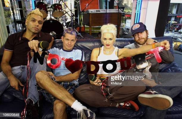"""No Doubt during MTV Celebrates """"TRL's"""" 1000th Show - October 23, 2002 at MTV Studios- Times Square in New York City, New York, United States."""