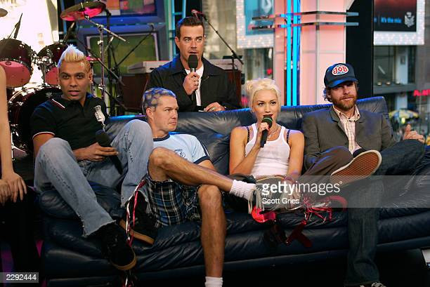 No Doubt during the TRL 1000th episode celebration at the MTV Studios in Times Square New York City 10/23/02 Photo by Scott Gries/ImageDirect