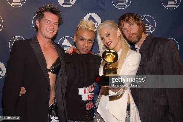 No Doubt is interviewed during The 45th Annual GRAMMY Awards Web Central at Madison Square Garden in New York City NY United States