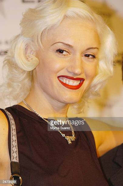 No Doubt singer and fashion icon Gwen Stefani carrys a handbag from her collection introduces a line of Lesportsac handbags called LAMB at Macy's...