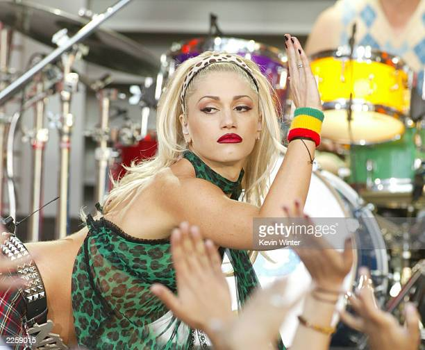 """No Doubt, with Gwen Stefani, at """"The Tonight Show with Jay Leno"""" at the NBC Studios in Burbank, Ca. Friday, June 7, 2002. Photo by Kevin..."""
