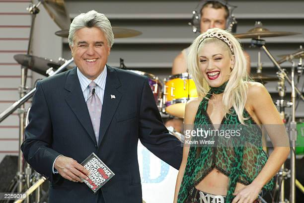 No Doubt with Gwen Stefani at The Tonight Show with Jay Leno at the NBC Studios in Burbank Ca Friday June 7 2002 Photo by Kevin Winter/ImageDirect