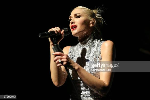 No Doubt's Gwen Stefani performs at Gibson Amphitheatre on November 30 2012 in Universal City California
