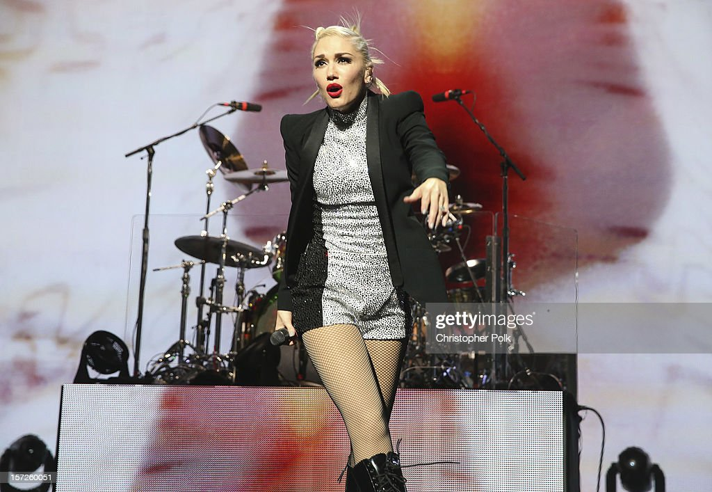 No Doubt's Gwen Stefani performs at Gibson Amphitheatre on November 30, 2012 in Universal City, California.