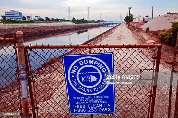 No Dumping In Ocean Sign Along Dominguez Channel A 15 7