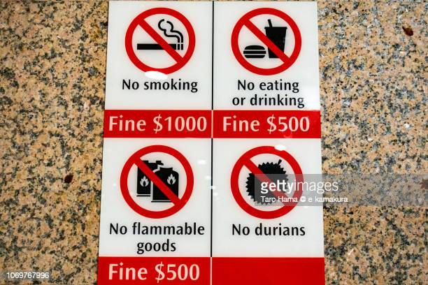 'No durians' in Singapore subway