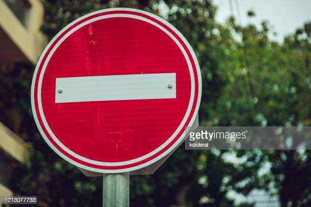 no entrance traffic sign - wrong way stock pictures, royalty-free photos & images