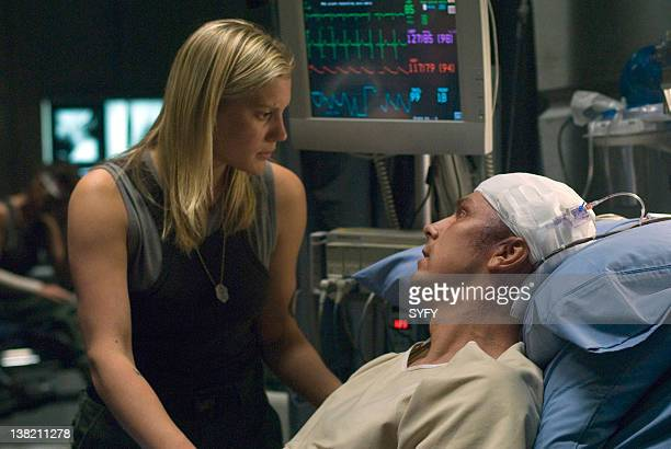 GALACTICA 'No Exit' Episode 417 Aired Pictured Katee Sackhoff as Kara 'Starbuck' Thrace Michael Trucco as Samuel 'Longshot' Anders