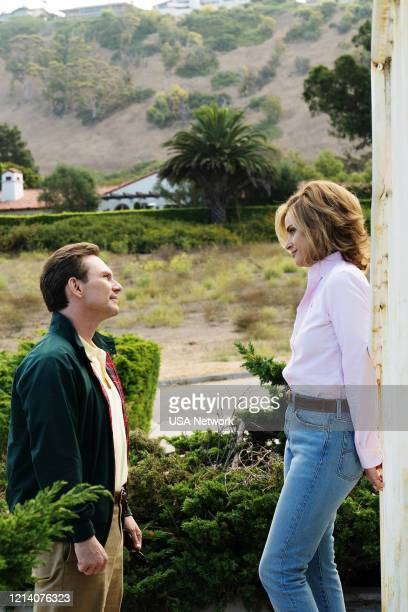 "No Fault"" Episode 201 -- Pictured: Christian Slater as Dan Broderick, Amanda Peet as Betty Broderick --"