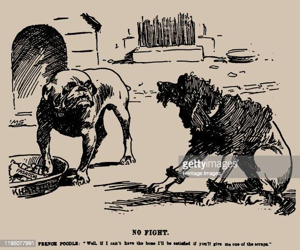 No Fight Cartoon on the Fashoda Incident 1898 Private Collection Artist Staniforth Joseph Morewood