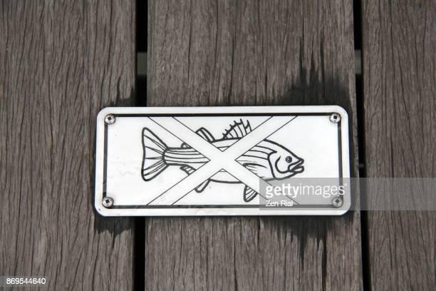 No fishing sign on Boardwalk