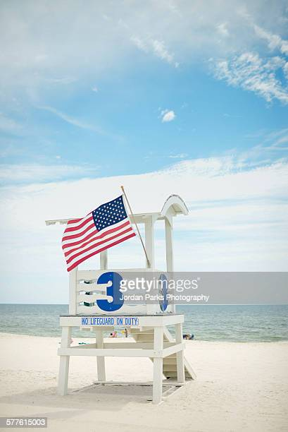 no lifeguard on duty - gulf shores alabama stock pictures, royalty-free photos & images
