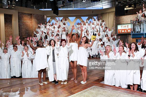 """No lipstick No blush No false eyelashes To kick off Season Three the ladies of THE TALK """"take it all off"""" going completely natural and makeupfree for..."""