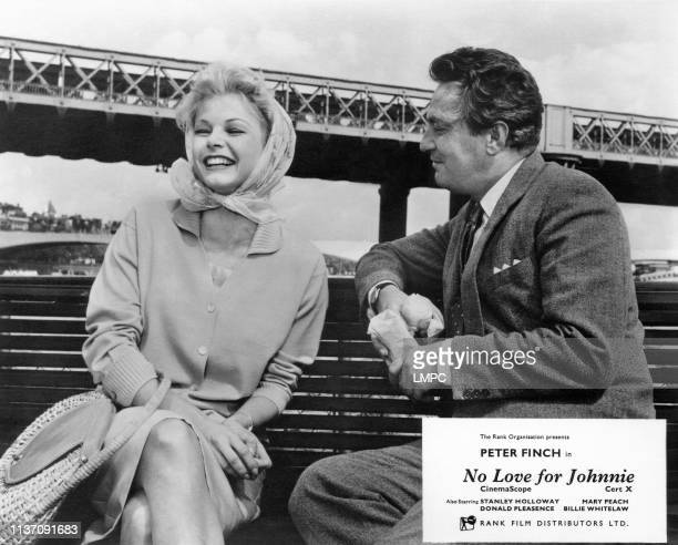 No Love For Johnnie, lobbycard, from left: Mary Peach, Peter Finch, 1961.