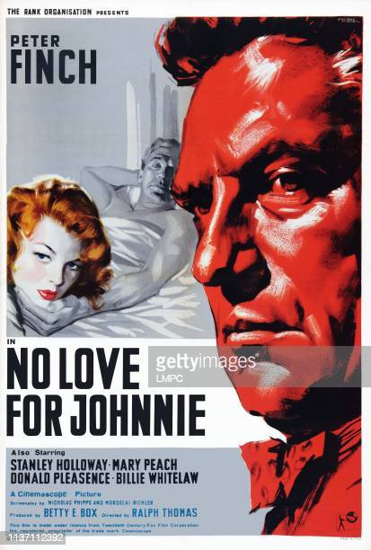 No Love For Johnnie, poster, British poster art, from left: Mary Peach, Peter Finch, 1961.