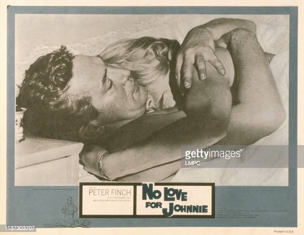 No Love For Johnnie US lobbycard from left Peter Finch Mary Peach 1961