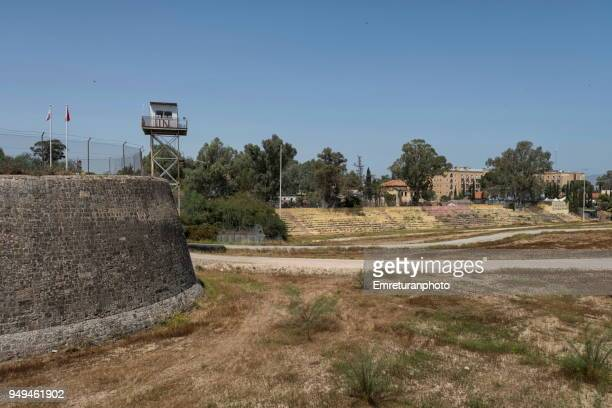 no man's land and ledra palace building in cyprus. - emreturanphoto stock pictures, royalty-free photos & images