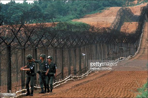 No man's land between North and South Korea in Seoul South Korea in July 1986