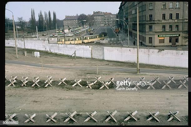 No man's land w. Berlin Wall & East side beyond