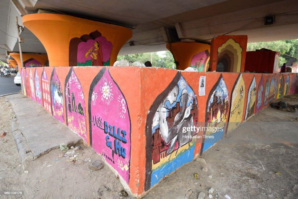 A Mural Makeover For Delhi's Hanuman Mandir Flyover