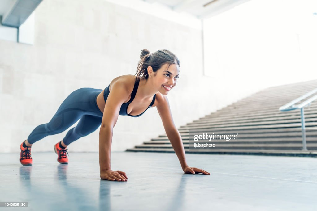 No need for a gym : Stock Photo