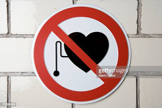 No pacemakers' sign