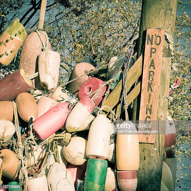 no parking, buoys - sursly stock pictures, royalty-free photos & images