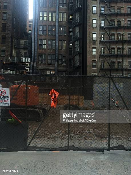 No Parking Sign On Chainlink Fence