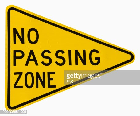no passing zone road sign stock photo | getty images