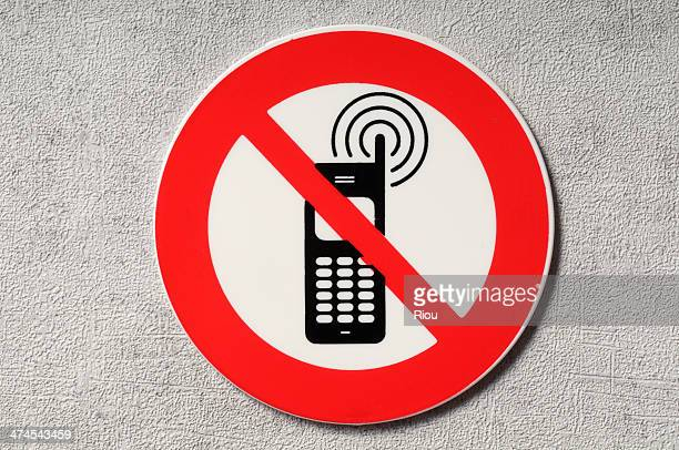 no phone sign - verboten stock-fotos und bilder