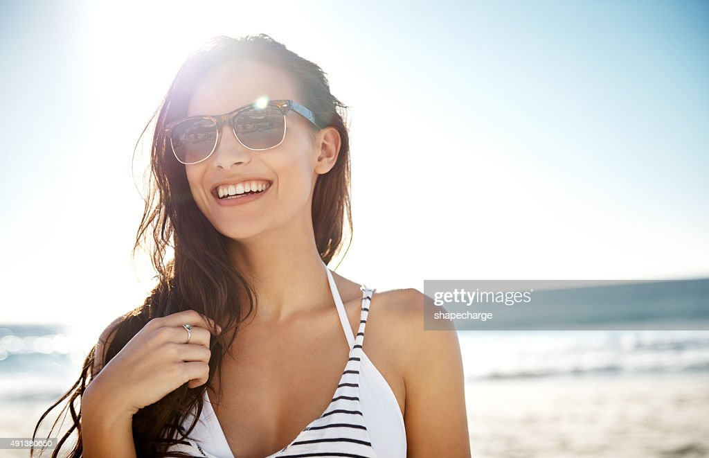 No place as awesome as the beach : Stock Photo