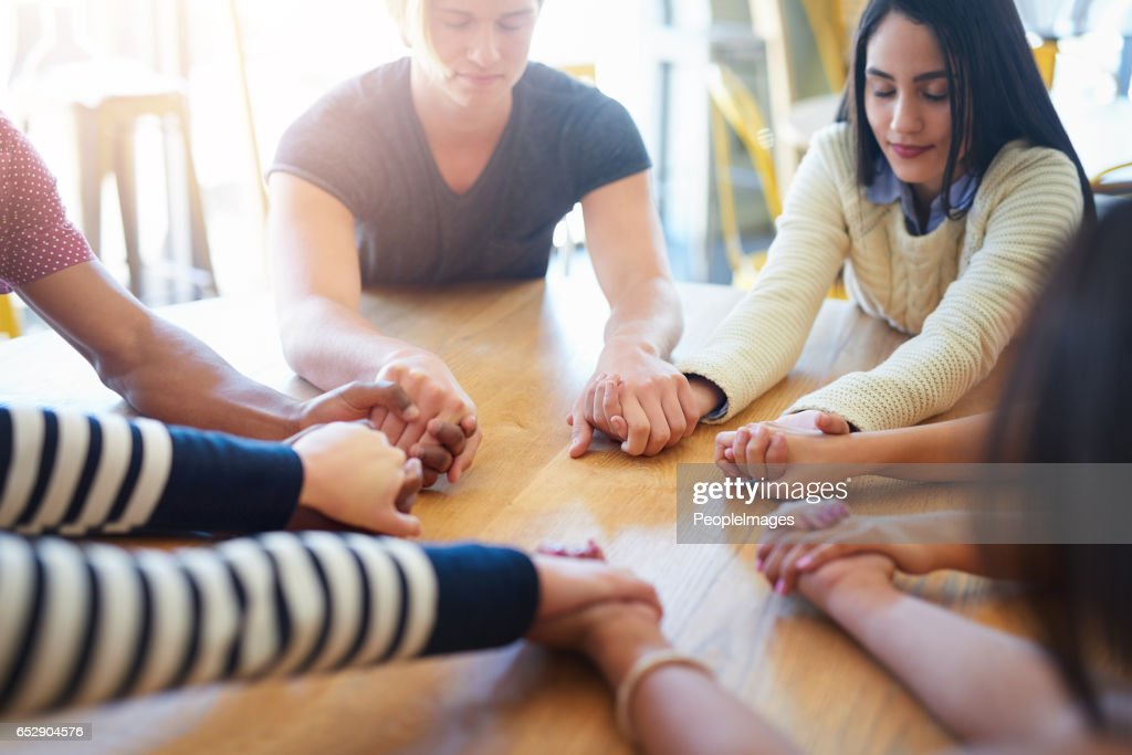 No problem is too big for prayer : Stock Photo