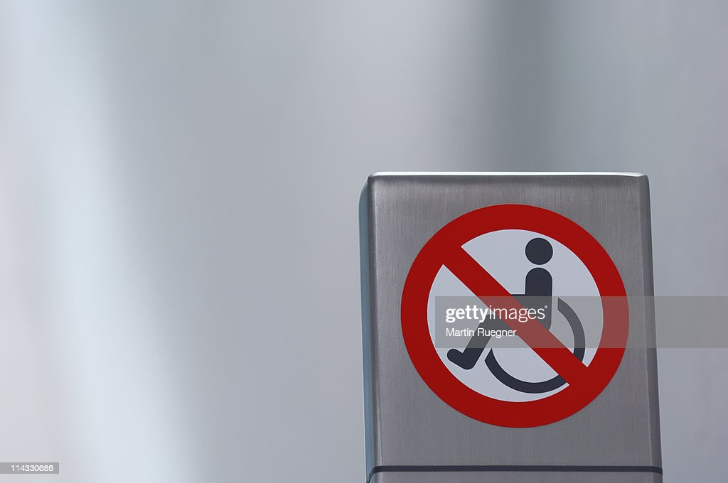 No roll chair sign. : Stock Photo
