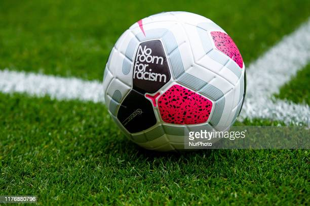 OCTOBER 19TH No room for racism football during the Premier League match between Wolverhampton Wanderers and Southampton at Molineux Wolverhampton on...