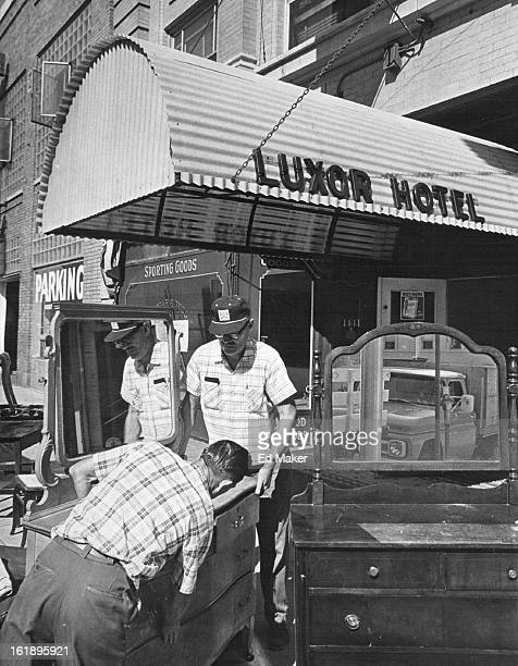 JUL 27 1966 JUL 28 1966 No Rooms at Denver Inn After 58 years of renting rooms the Luxor Hotel 1445 California St is tenantless William Forth of 1242...