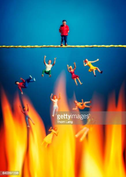 no safety net - hell stock pictures, royalty-free photos & images