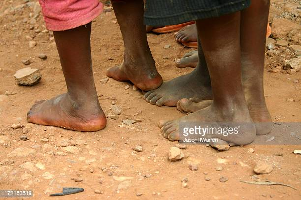 no shoes... - dirty feet stock pictures, royalty-free photos & images
