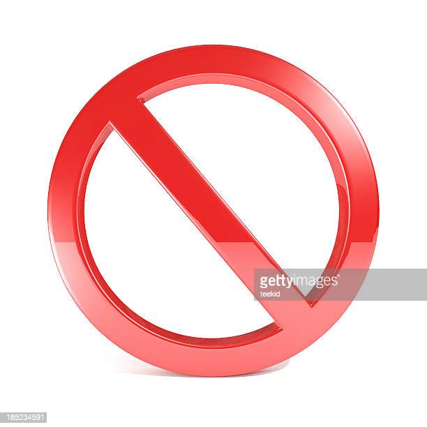 No Sign Isolated On White